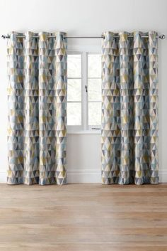 Buy Textured Geo Print Eyelet Curtains Online Today At Next Israel
