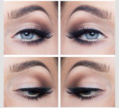 Nude / Cream Smokey Eye - a very soft and natural smokey eye