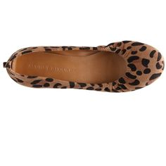Audrey Brooke Newport Leopard Flat ($60) ❤ liked on Polyvore featuring shoes, flats, leopard print flats, flat shoes, leopard flats, leopard shoes and leopard flat shoes