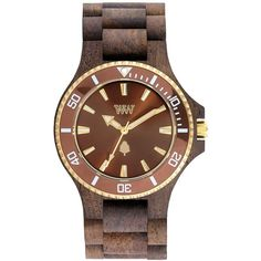 Wewood Date Mb Wood Bracelet Watch, 42Mm ($120) ❤ liked on Polyvore featuring jewelry, watches, wooden watches, wewood watches, wood jewelry, indian jewelry and watch bracelet