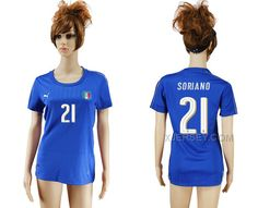 http://www.xjersey.com/italy-21-soriano-home-women-euro-2016-soccer-jersey.html Only$35.00 ITALY 21 SORIANO HOME WOMEN EURO #2016 SOCCER JERSEY #Free #Shipping!