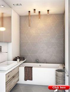 35 Modern Bathroom Decor Ideas Match With Your Home Design Style Bathroom design,Modern style,design ideas. Modern Bathroom Decor, Bathroom Interior Design, Decor Interior Design, Bathroom Lighting, Bathroom Vintage, Bathroom Grey, Small Bathroom Tiles, Modern Small Bathroom Design, Cool Bathroom Ideas