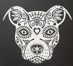 Pit Bull Sugar Skull – skulls r awesome - Malvorlagen Mandala Pitbull Tattoo, Bull Tattoos, Art Tattoos, Tatouage Pit Bull, Dibujos Sugar Skull, Compass Tattoo, Lotus Tattoo, Sugar Skull Artwork, Sugar Skull Drawings