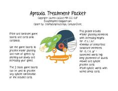 This packet focuses on treating apraxia in older elementary students. The sounds targeted include /k, g, l, r, s/. Use the game boards to practic. Articulation Activities, Speech Therapy Activities, Language Activities, Speech Pathology, Speech Language Pathology, Speech And Language, Play Therapy Techniques, Therapy Tools, Therapy Ideas