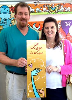 From husband to wife - this gift was an anniversary present of love. How amazing that this artwork can become a treasured memory for this loving couple. Awesome!