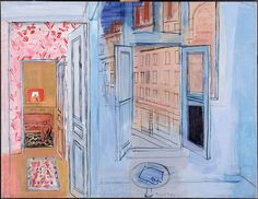 L'Atelier de L'Impasse de Guelma Artwork by Raoul Dufy Hand-painted and Art Prints on canvas for sale,you can custom the size and frame Raoul Dufy, Canvas Art Prints, Oil On Canvas, Art Fauvisme, Blue Lantern, Scenic Design, Art Moderne, Henri Matisse, Monet