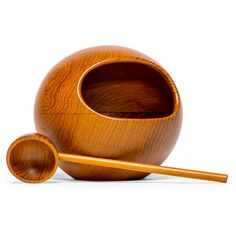 Teak Orb Nut Bowl