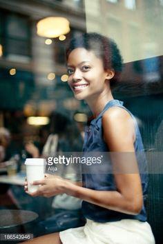 Stock Photo : Woman having Coffee