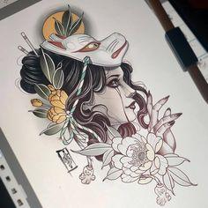 tattoos in japanese prints Japanese Drawings, Japanese Tattoo Art, Japanese Tattoo Designs, Japanese Sleeve Tattoos, Japanese Prints, Japan Tattoo Design, Geisha Tattoo Design, Geisha Tattoos, Kunst Tattoos
