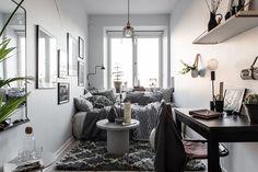 gravityhome:  Teeny tiny studio apartment    Follow Gravity Home: Blog - Instagram - Pinterest - Facebook - Shop  http://ift.tt/2gqEaUj