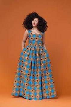 African Print Dinefa Maxi Dress