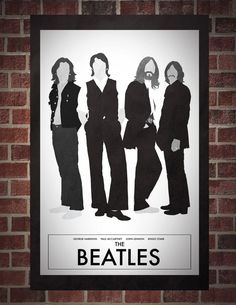 The Beatles 11 x 17 Minimalist Poster. $17.00, via Etsy. (Art for Above Carter's Bed)