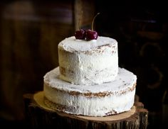 Cardamom Brown Sugar Cake with Rose Whipped Cream & Cherries by Adventures in Cooking
