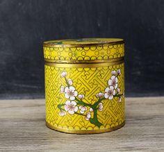 Vintage Chinese Cloisonne Tea Jar/Can by MotherandSonVintage on Etsy