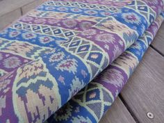 """56"""" Wide Cotton Stripe Upholstery Fabric Home Decorator Green Blue Purple Stripe Kilim Rustic Decor Moroccan Fabric Abstract Pattern ST"""