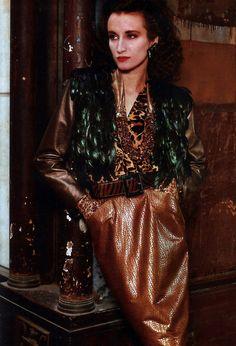 Yves Saint Laurent Rive Gauche, American Vogue, September 1986.