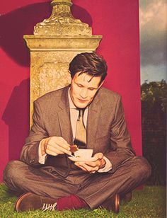 Matt Smith for Esquire UK Magazine. So handsome! All Britished-up (yes it's a word now, at least in Lexi's World) with tea and biscuits! Eleventh Doctor, Doctor Who, Esquire Uk, Uk Magazines, British Men, Matt Smith, Geronimo, Time Lords, Dr Who