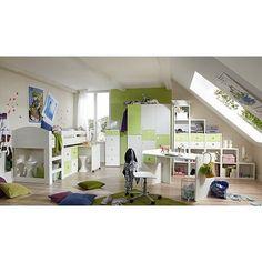 Jugendzimmer 2 T.g In Alpinweiß Mit Abs. In Marineblau 3 Trg. Kleiderschrank