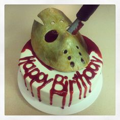 Friday the 13th cake.