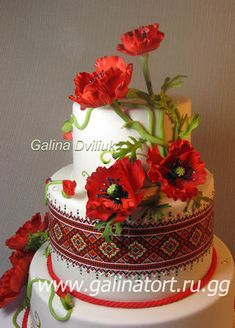 Many beautiful wedding cake designs at this web site. Luau Cakes, Poppy Cake, Cookie Recipes For Kids, Easy Cake Decorating, Fondant Icing, Fashion Cakes, Beautiful Wedding Cakes, Wedding Cake Designs, Piece Of Cakes