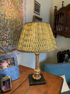 Antique lamp with silk shade from Penny Morrison (London)