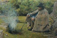 """Tancrède Bastet (1858 - 1942) """"le Gardeur de dindons"""" dét. (1889, huile sur toile) musée Mainssieux à Voiron (Isère, France)"""