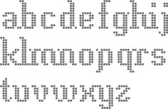 cross stitch fonts-- simple