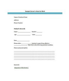 doctors-note-excuse-form | Fake doctors note | Pinterest | Notes ...