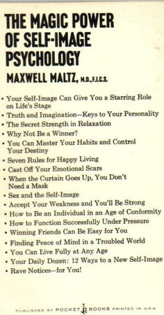 The Magic Power of Self Image Psychology - Maxwell Maltz  #psychology