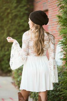 Lace back dress #swoonboutique