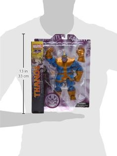 """Diamond Select Toys Marvel Select Thanos Action Figure A Diamond Select release! With the cosmically-charged Infinity Gauntlet in his grasp, Thanos nearly wiped out every living being in the universe and would have succeeded if not for the intervention of some of the Marvel Universe's greatest heroes. With 14 points of articulation, the Thanos figure is a detailed representation of the villainous legend, complete with a removable """"Infinity Gauntlet"""" and a scale unarticulated death f.."""