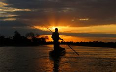 Sundowner mokoro | RAW Botswana Okavango Delta, Safari, To Go, Africa, Boat, Inspirational, Sunset, Outdoor, Sunsets