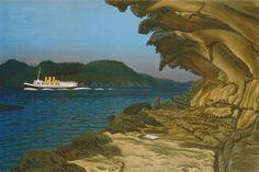 EJ Hughes, At Malaspina Galleries, Gabriola Island. Coastal Paint, Thomas Merton, Beach Quotes, Paintings I Love, Canadian Artists, Vancouver Island, Map Art, Landscape Art, Gallery