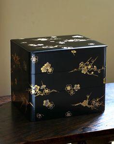 重箱|梅箔絵三段重