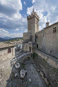 The wonderful Piccolomini Castle from the walls, Abruzzo, Italy