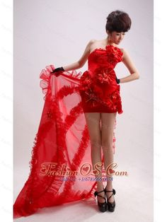 Column / Sheath Red Strapless Chiffon Handle-Made Flowers Watteau Prom Dress- $148.45  http://www.fashionos.com  | customize prom dress | prom dress on sale | affordable prom dress | cheap plus size 2013 prom homecoming gowns | 2013 junior prom pageant dress | summer collection | 2013 sexy custom made prom cocktail dresses for sale | 2013 discount prom cocktail dress | strapless evening dress |  This unique red high-low prom is the classical collecation!