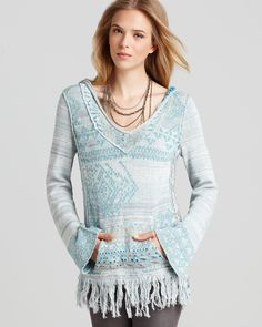 | Free People Sweater - Dream Time Story Tunic | Bloomingdale's