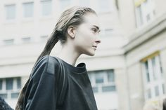 Greased Roots, hairstyle at Ann Demeulemeester Fall 2014 Paris Fashion Week photo by Donald Gjoka