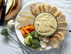 Nut-free Vegan Cheezy Fondue! We're going to need crostini ... with back-up, stat.