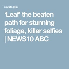 'Leaf' the beaten path for stunning foliage, killer selfies | NEWS10 ABC