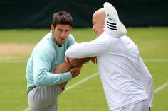 Novak #Djokovic throws some shapes on the #Wimbledon practice courts. #Nole #NoleFam