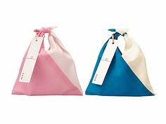 cloth bags with tags Brand Packaging, Packaging Design, Japanese Packaging, Clothing Packaging, Japanese Bag, Rice Bags, Cloth Bags, Fashion Branding, Bag Making