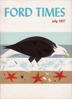 Ford Times cover by Charley Harper, July 1957