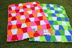 quilts- I saw this on sewing w/ nancy and she offered different ideas and techniques.  It was awesome and quick.  Must do!