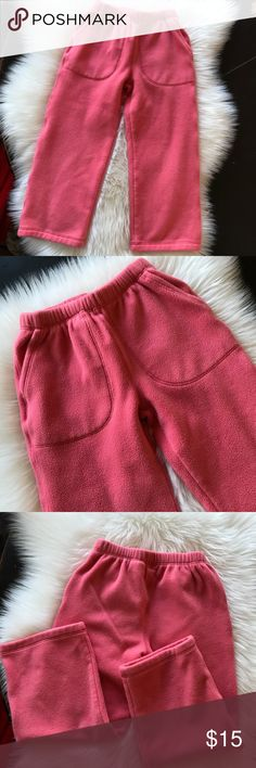 Hanna Andersson Girls Fleece Pants Size 6-7 Hanna Andersson Fleece Pants Pink Peach Color Size 120, 6-7. Hanna Andersson Bottoms Casual