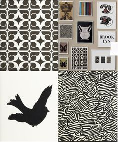 collage of west elm patterns and prints