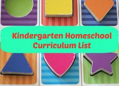 What We Use for Homeschool Curriculum 2013: Kindergarten ~ Lille Punkin'