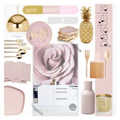 """""""Pastel Kitchen by PIXERS"""" by pixers ❤ liked on Polyvore featuring interior, interiors, interior design, home, home decor, interior decorating, Menu, Threshold, CB2 and Skandium"""