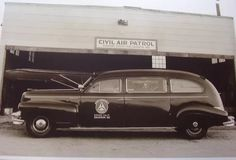 Photo showing Civil Air Patrol ambulance from Bishop Composite Sq, Calf. Wing CAP ca. 1945