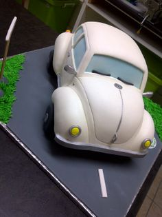 VW Beetle - Handcarved VW Beetle, made for a celbration at VW....no pressure!